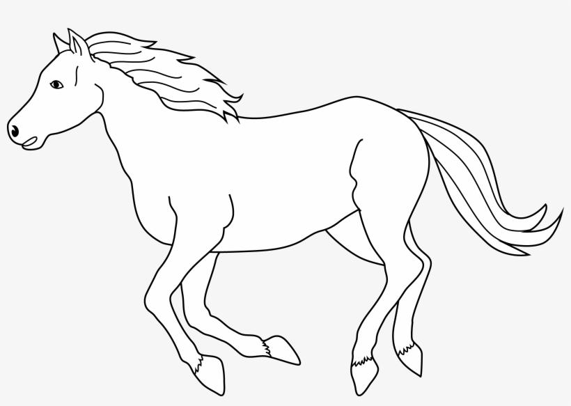 Running horse line.