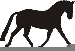 Horse dressage clipart.