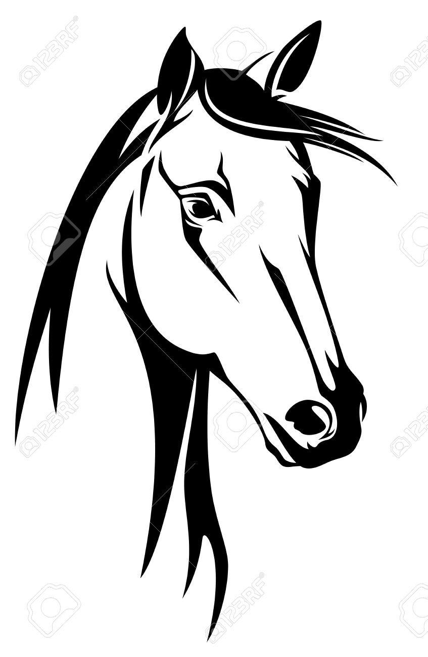 Stock vector horse.