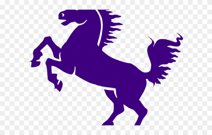 Mustang clipart purple.