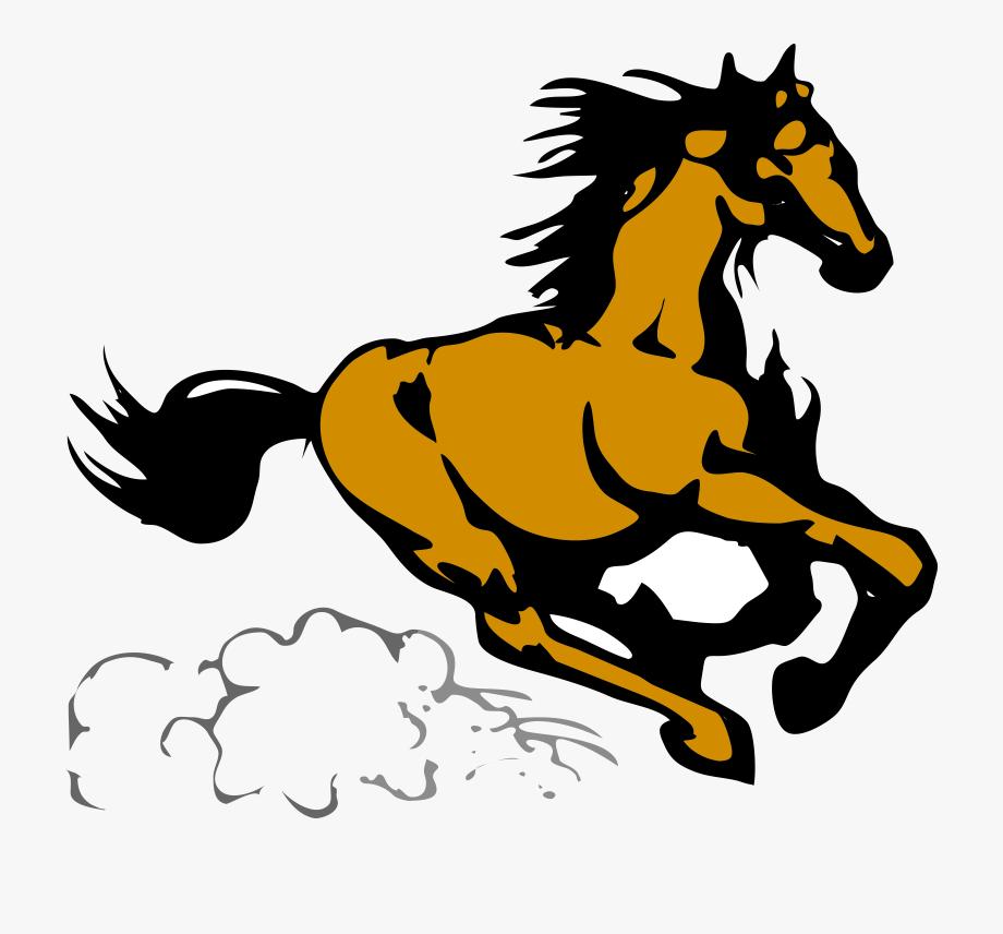 Running horse clipart.