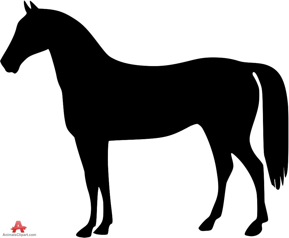 Standing horse silhouette.