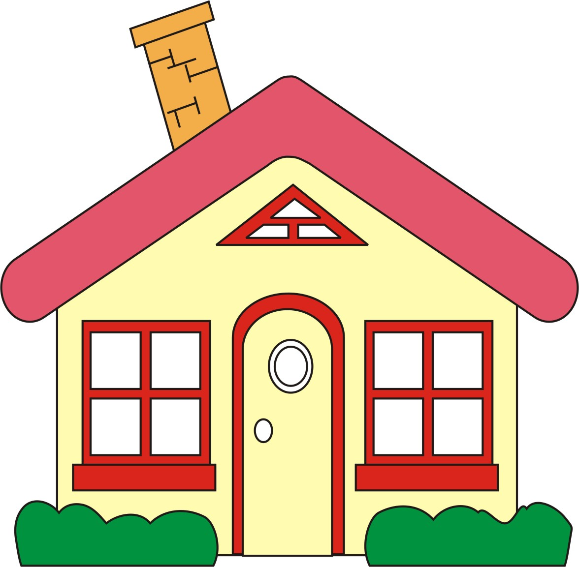 Top house clip art free clipart image