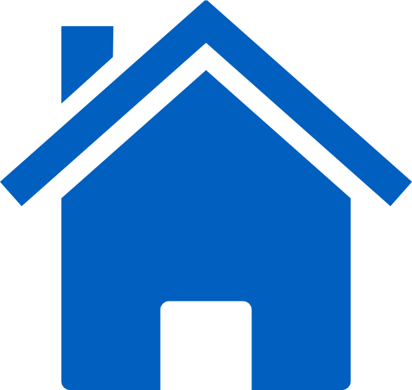 Simple Blue House Clip Art at Clker