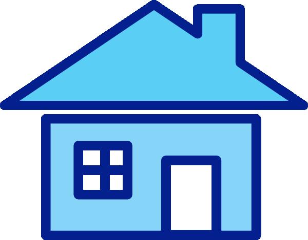 Blue house clip.