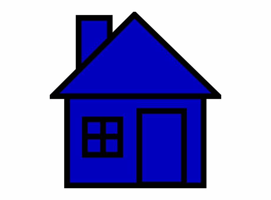 Blue House Clipart, Transparent Png Download For Free
