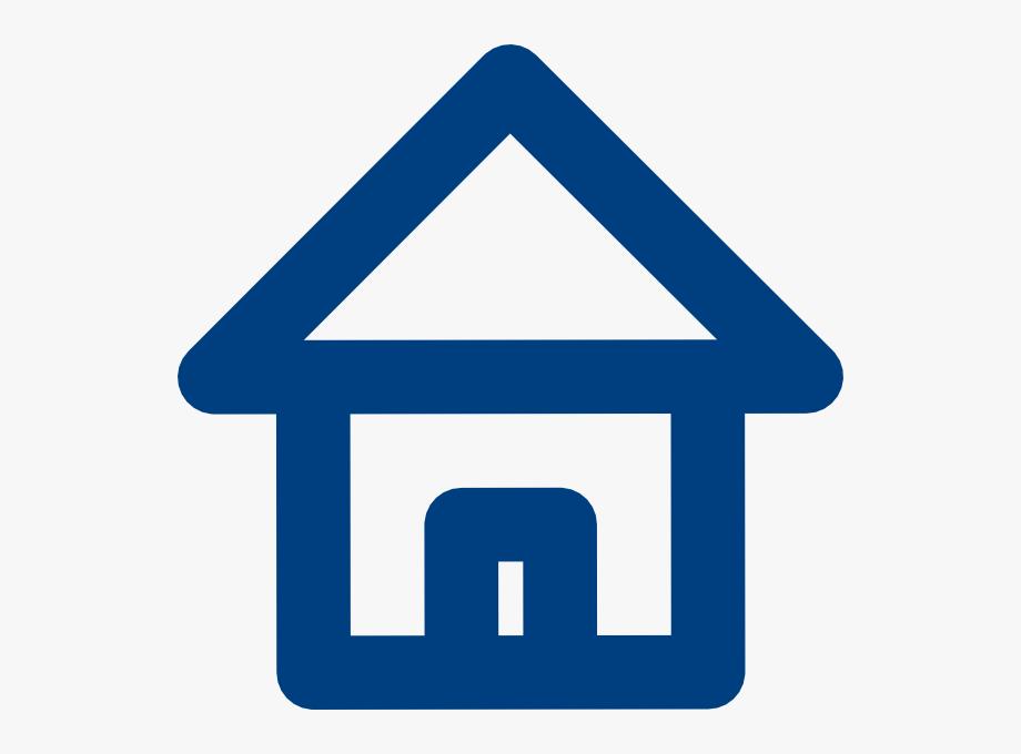 Blue house svg.