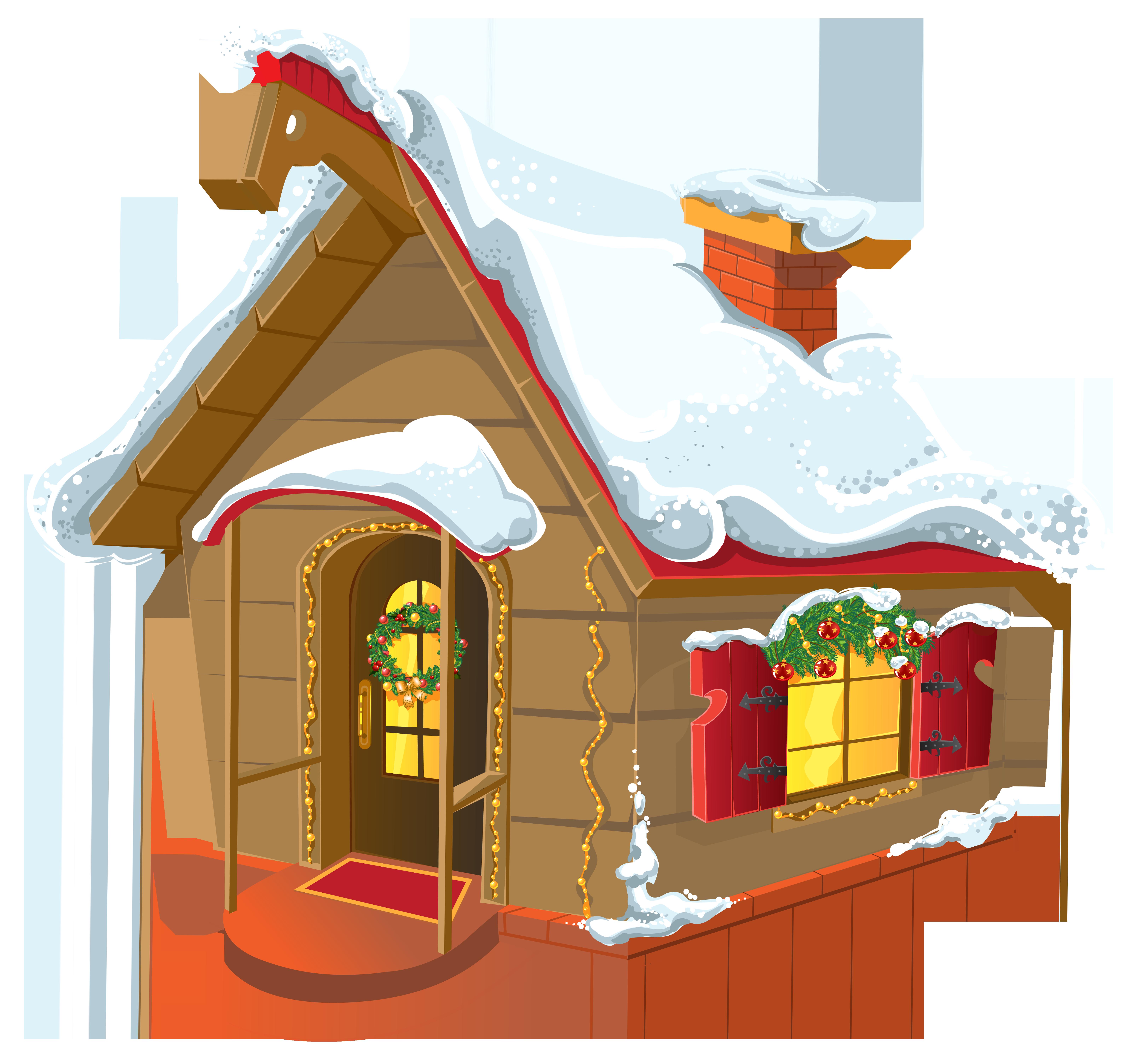 Christmas winter house.
