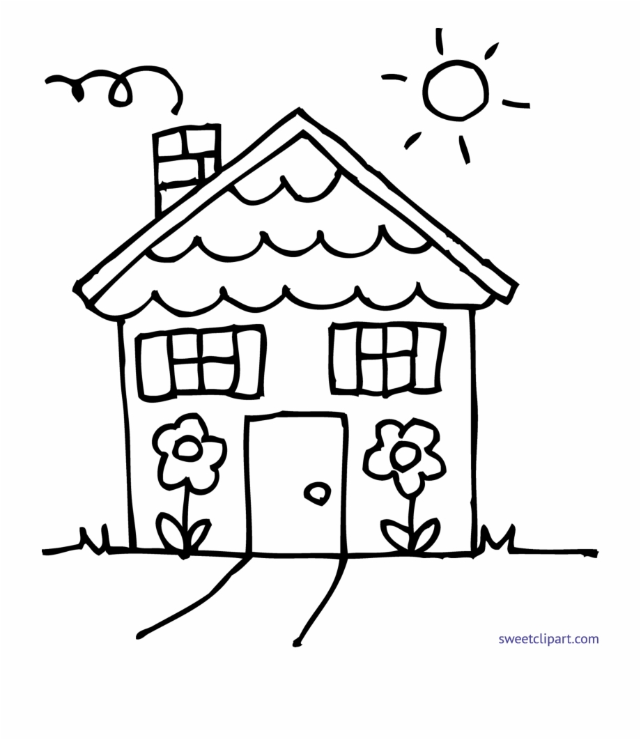 Cute house coloring.