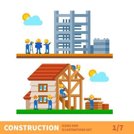 House construction clipart