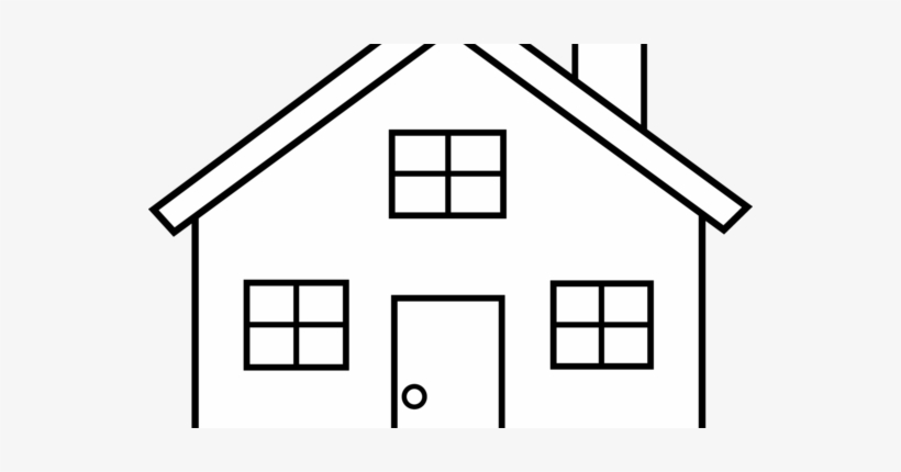 Black And White House Clipart