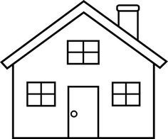 Image result for house clipart black and white