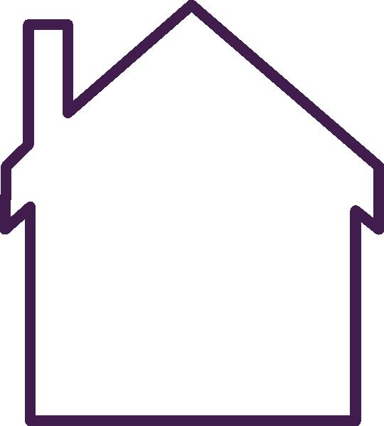 Purple House Empty Clip Art at Clker