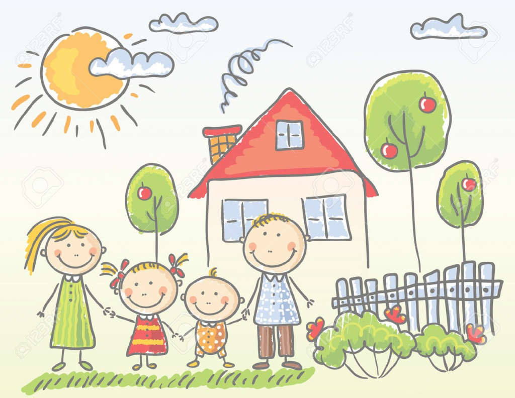 Family clipart house. Rotate resize tool