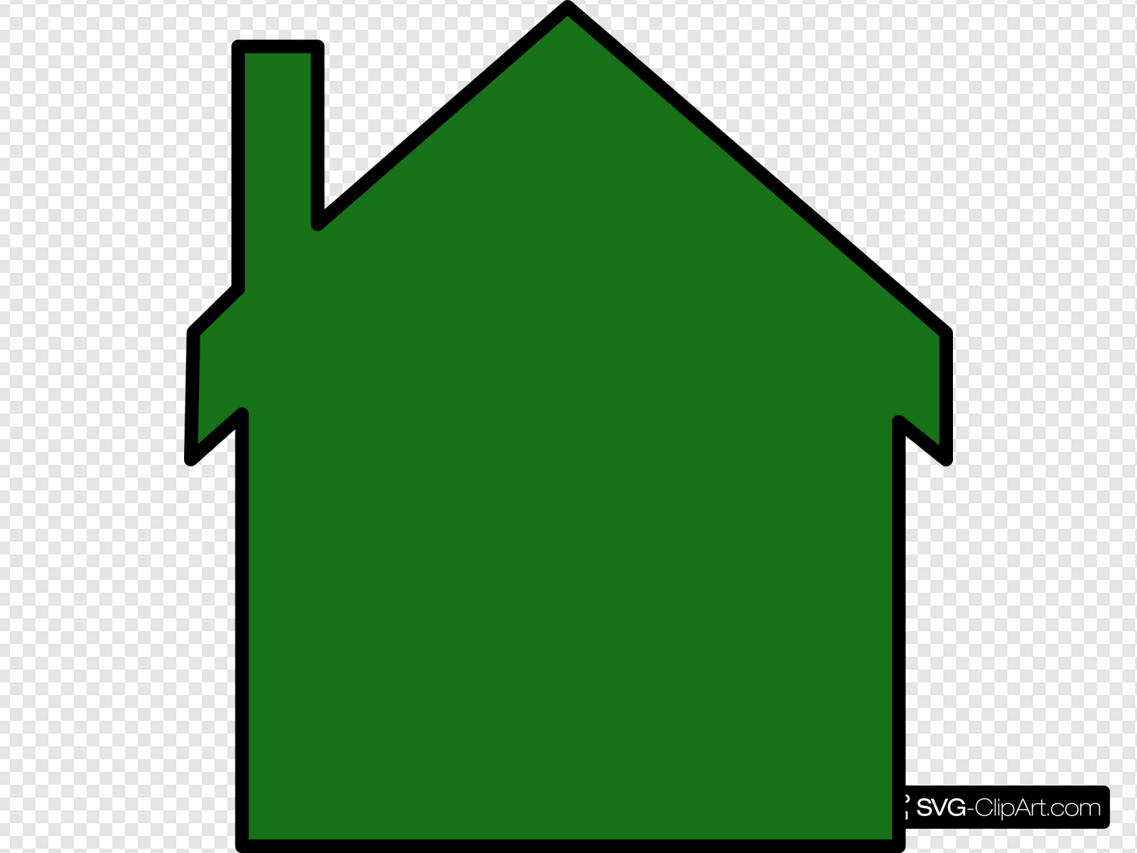 Dark Green House Clip art, Icon and SVG