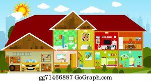 house clipart inside