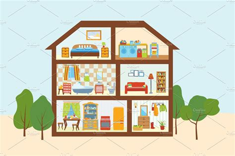 Inside the house clipart
