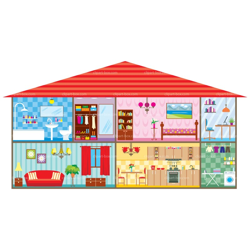 clipart of furniture house