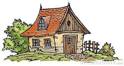 Old cottage clipart.