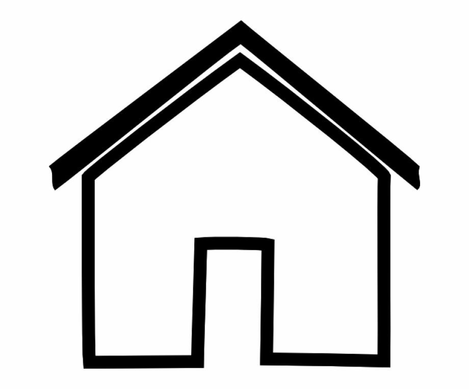 Black House Outline Clip Art At Clker