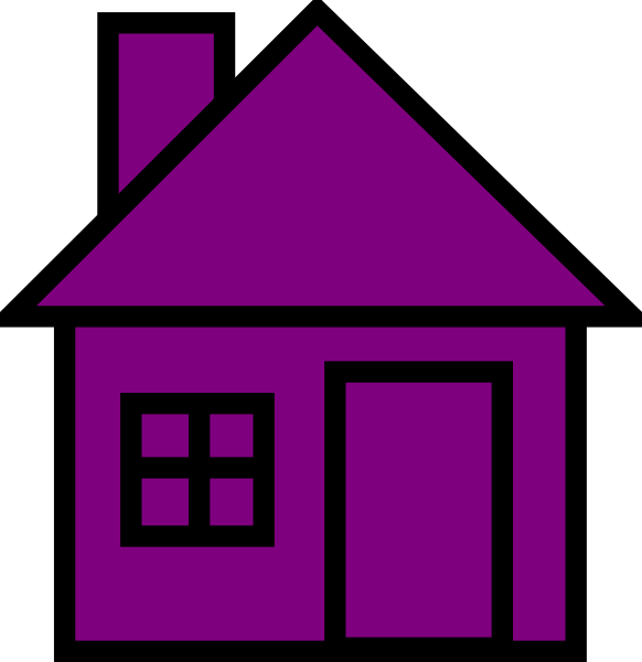 Clipart houses purple.
