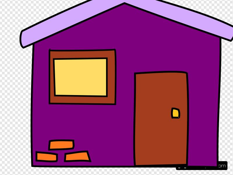 Purple House Clip art, Icon and SVG
