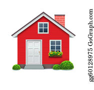 Red House Clip Art