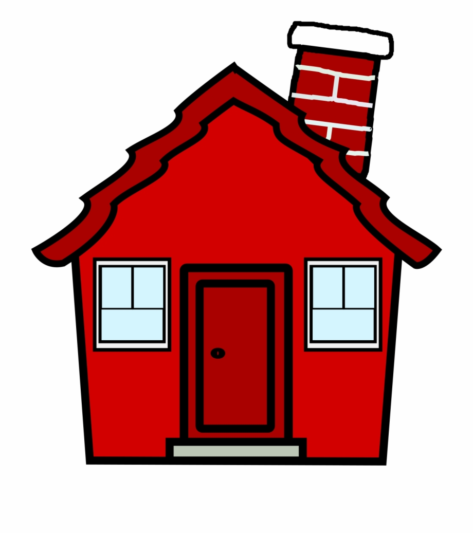Red House Clipart Free PNG Images