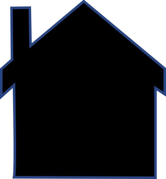 House Silhouette Clip Art at Clker