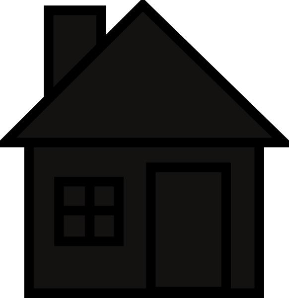 House clipart silhouette.