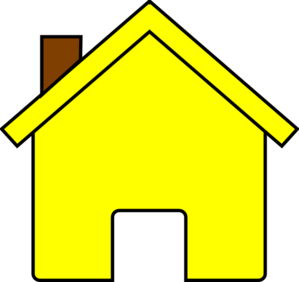 house clipart yellow