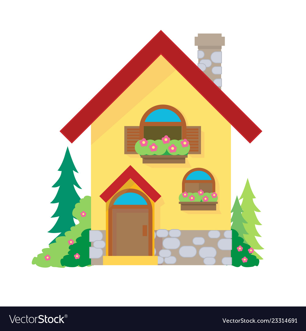 House cartoon or house clipart cartoon