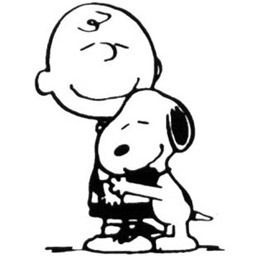 Hug charlie brown.