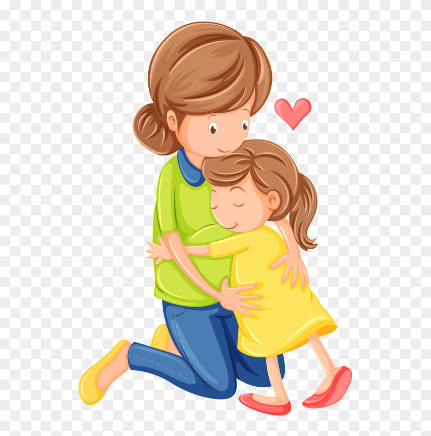 Mother clipart teacher hug.