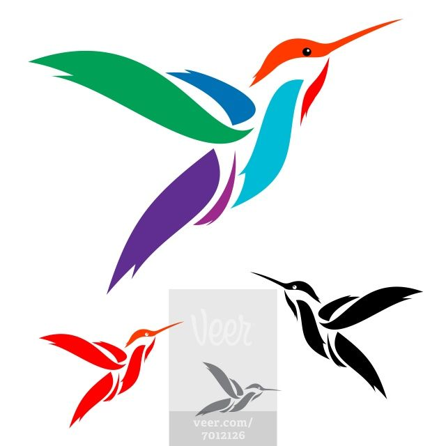 Hummingbird clipart abstract x.