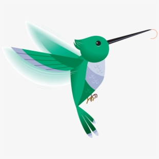 hummingbird clipart flying