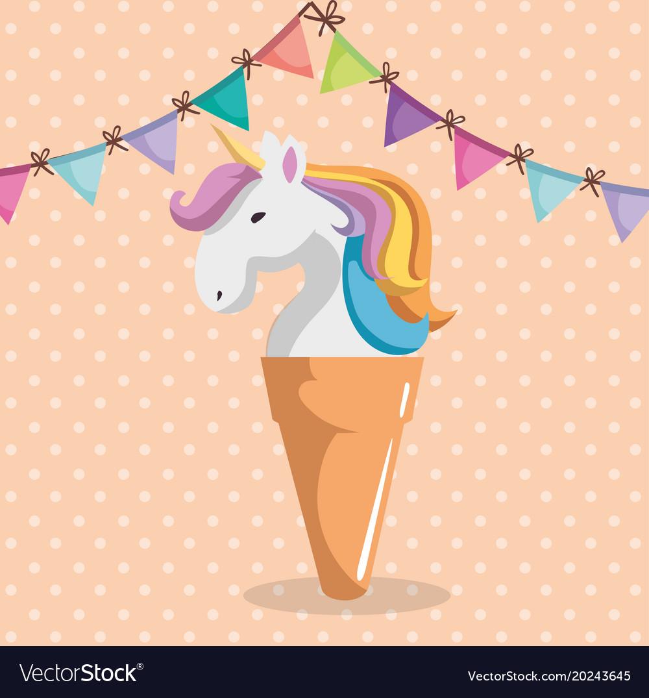 Cute unicorn with.