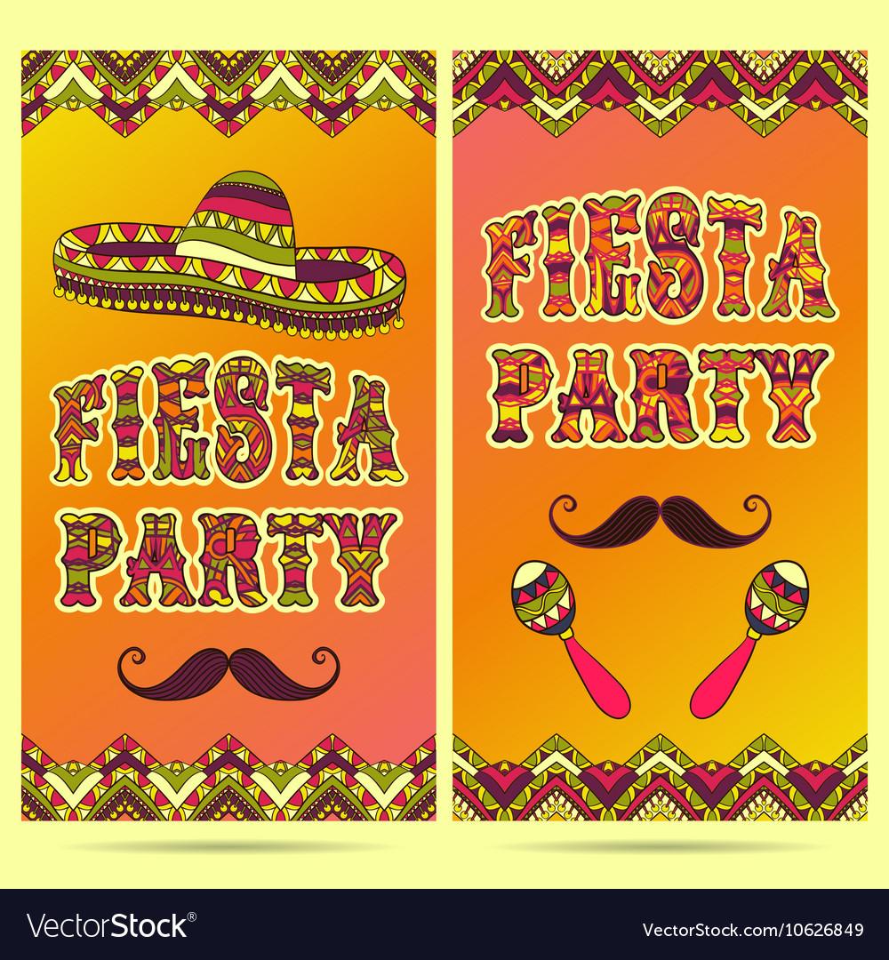 Invitation for fiesta.
