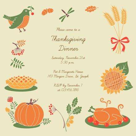invitation clipart thanksgiving
