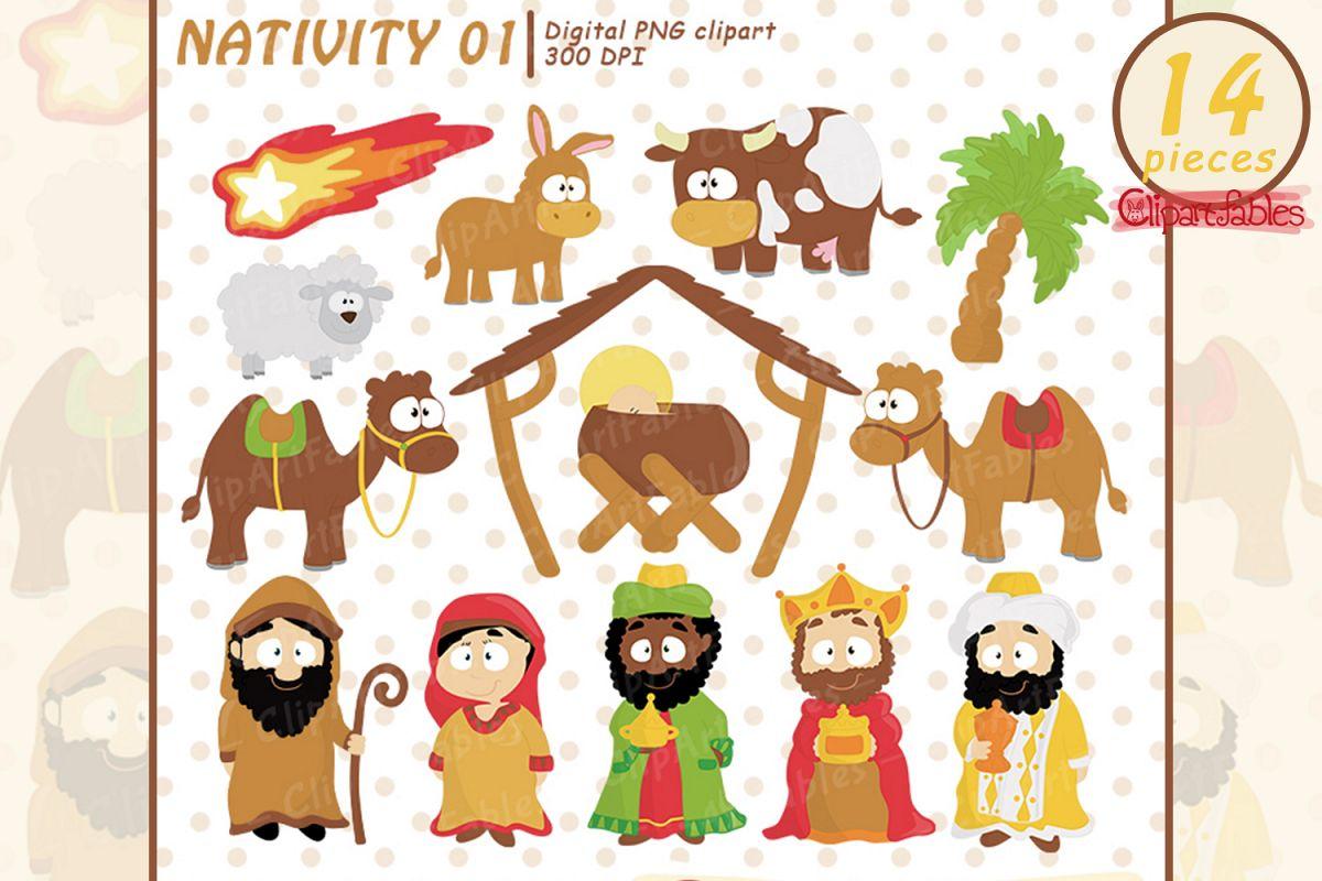 Nativity clipart cute.