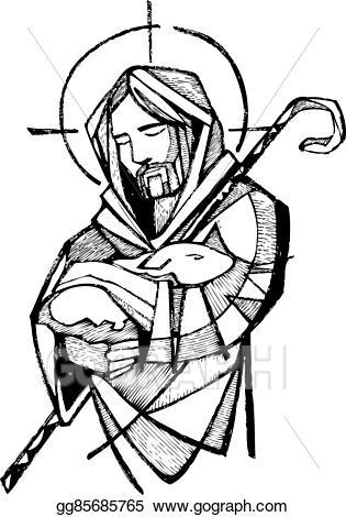 Vector clipart jesus.