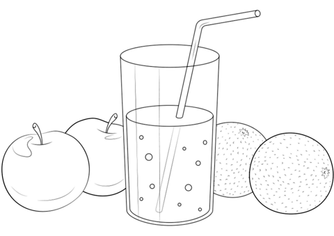 Fruit Juice coloring page