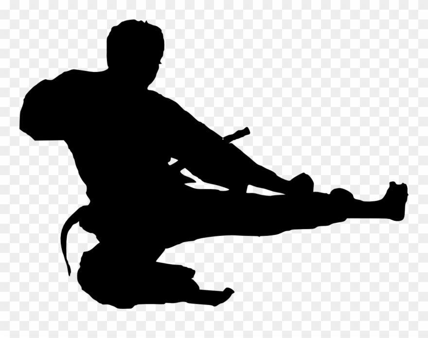 Silhouette Clip Art Karate Transprent Png Free
