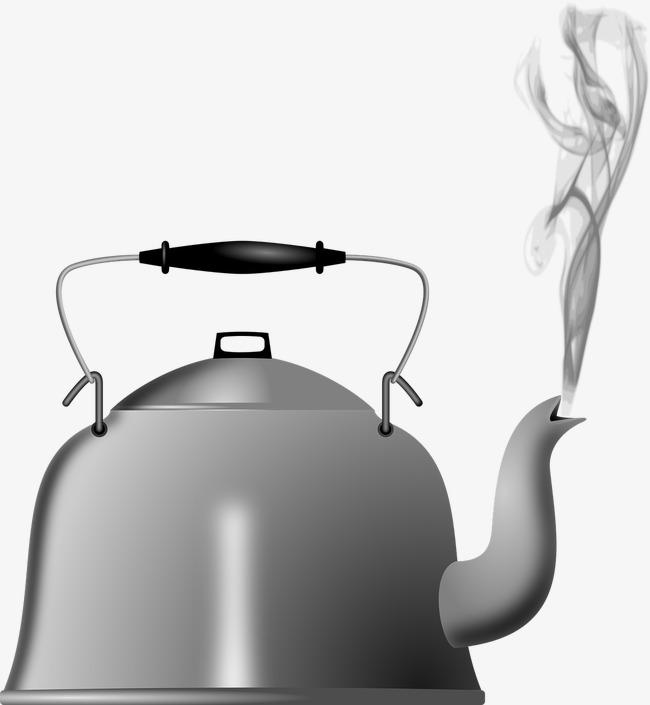 Boil Water Kettle, Water Clipart, Steam,
