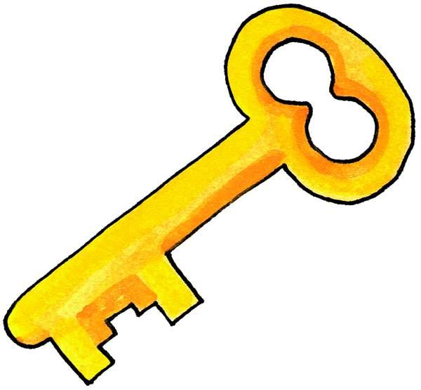 key clipart orange