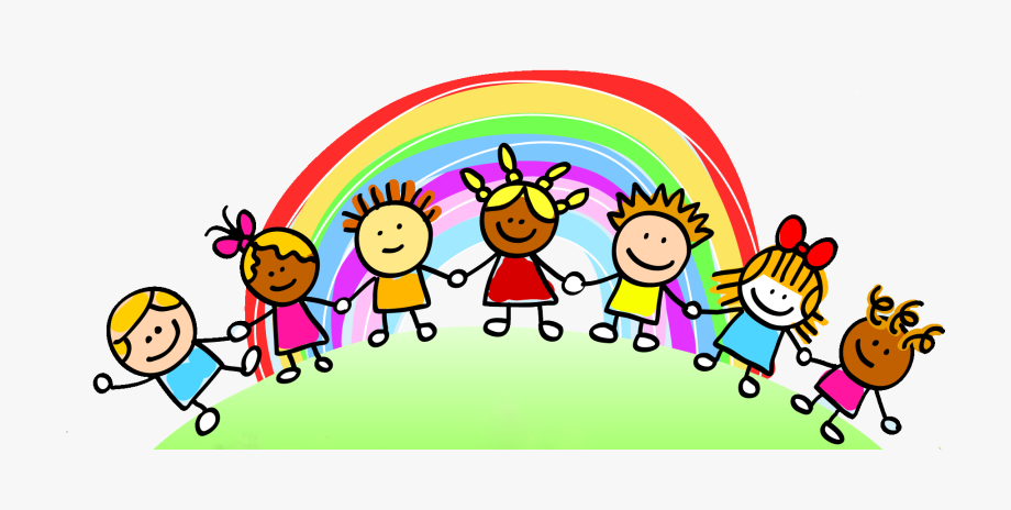 Cartoon kids clipart.