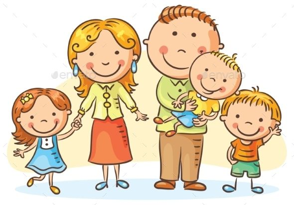 Happy family with.