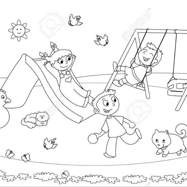 Playground drawing black.