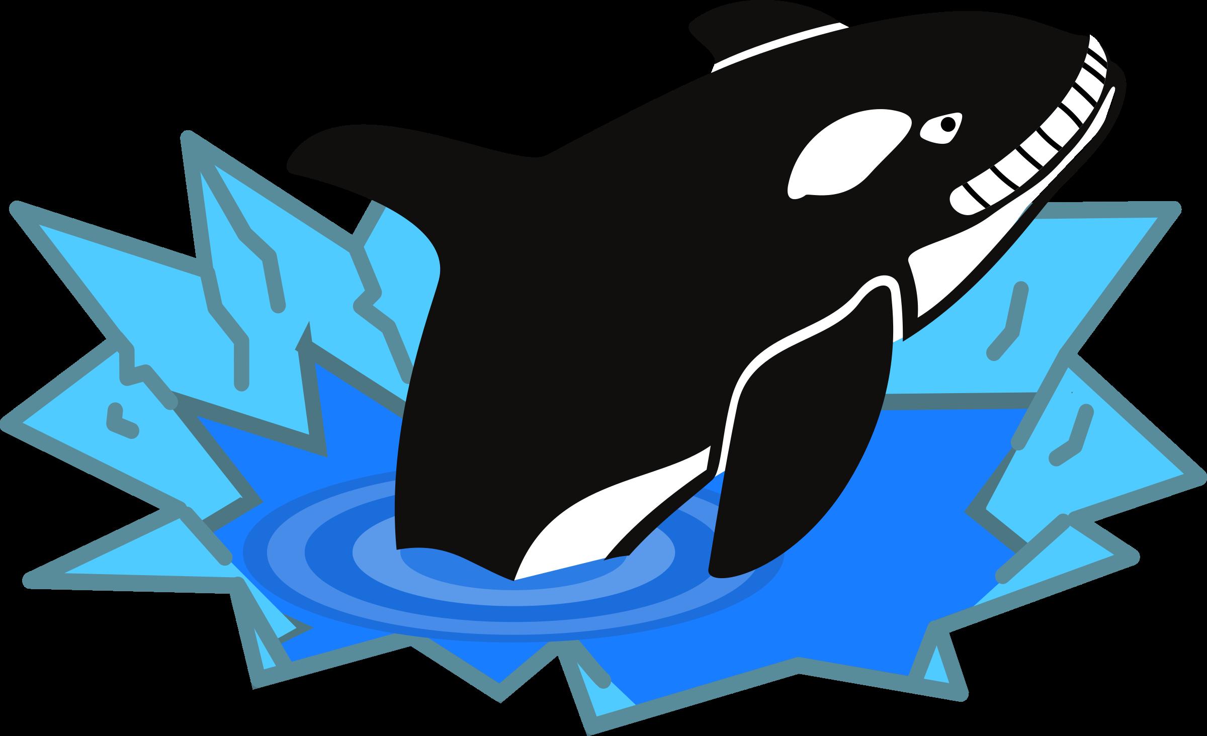 Cute orca drawing.