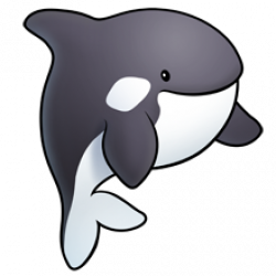Kawaii clipart whale.